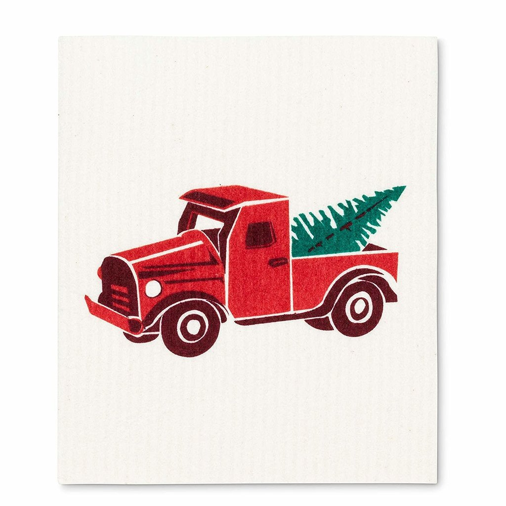 Abbott Truck & Tree Swedish Dishcloth