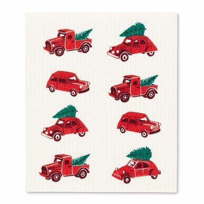 Abbott Trucks & Trees Swedish Dishcloth