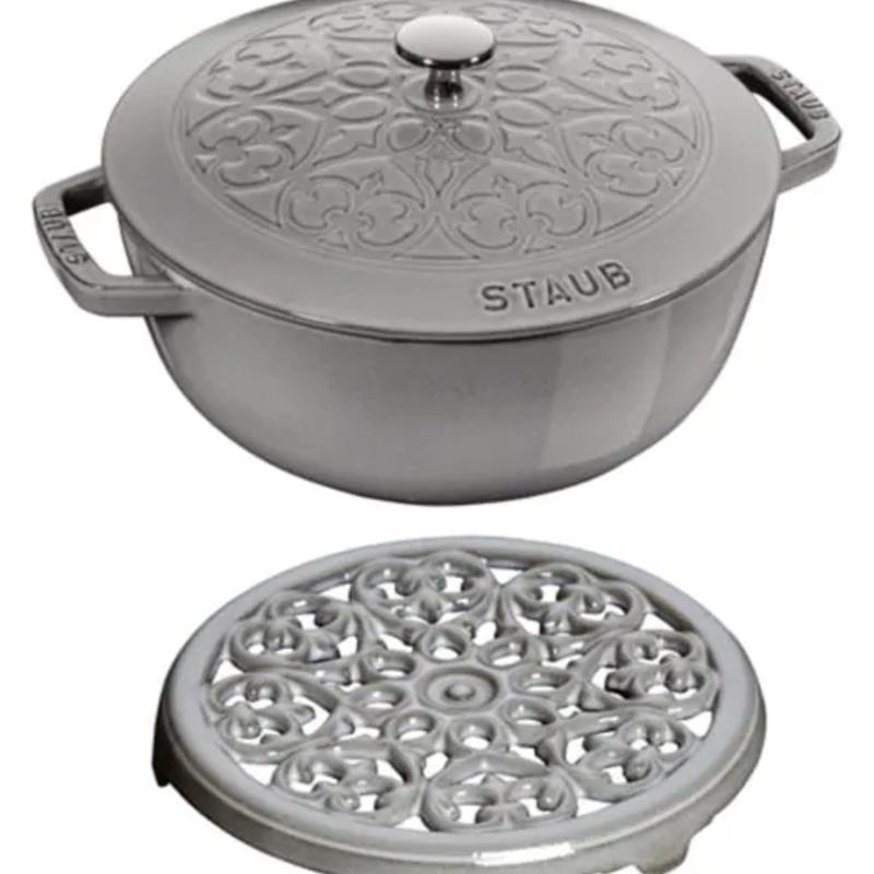 Staub Staub Lily Essential Oven 3.75QT + Trivet Grey