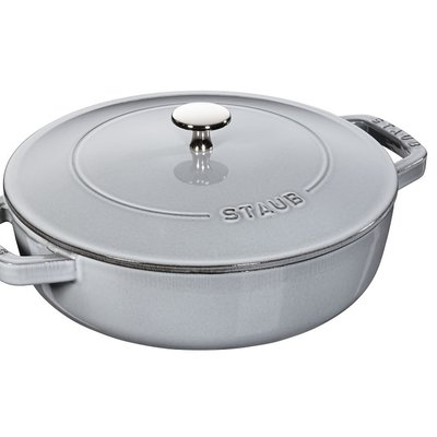 Staub Staub Chistera 3.8L / 4-Qt Grey Braiser