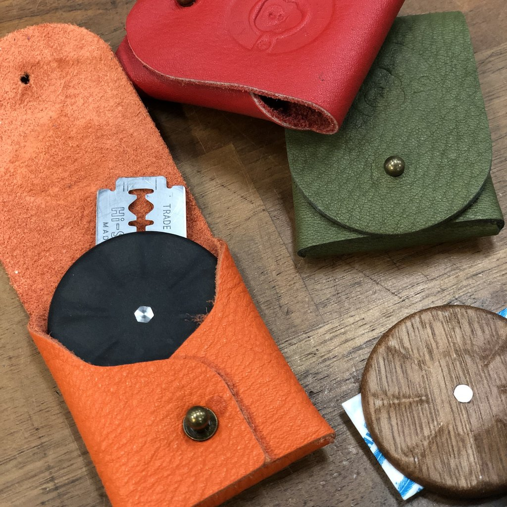 WireMonkey UFO Holster - Upcycled Leather (assorted colours)