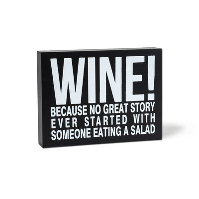 Abbott Sign - Wine Story Salad