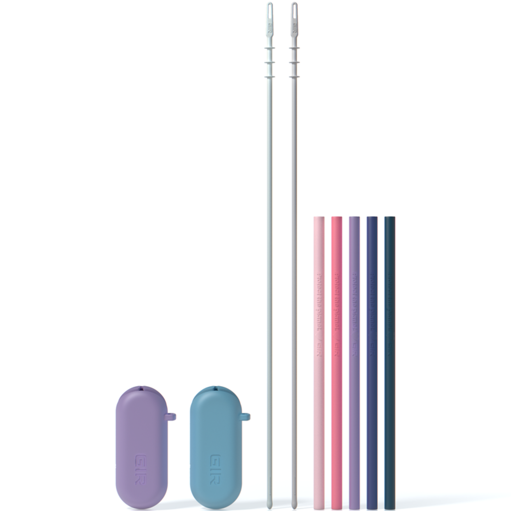 GIR Get It Right GIR Silicone Straw 5-Pack: Dusk