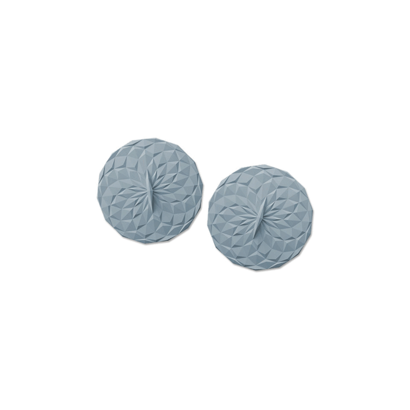 """GIR Get It Right Silicone Drink Lid 4"""" 102mm 2pk Slate"""