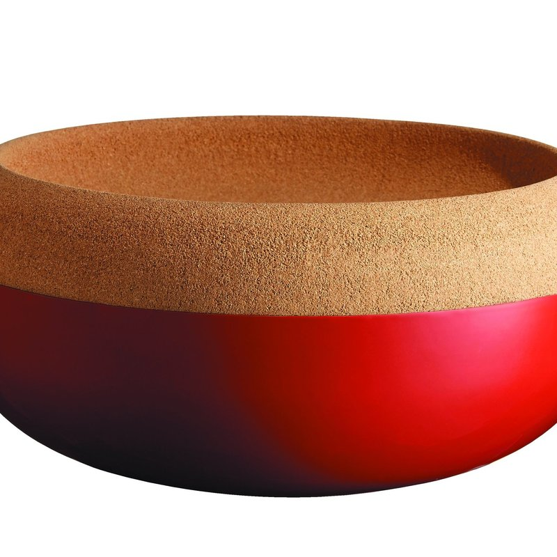 Emile Henry EH Large Storage Bowl w Cork Lid - Grand Cru