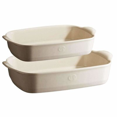 Emile Henry EH Ultime Rectangular 2pc Set - Argile