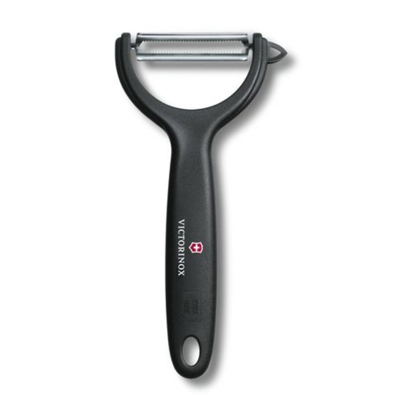 Victorinox peeler y-shape micro serrated black