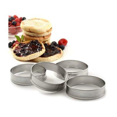 Norpro Crumpet/English Muffin Rings -set/4
