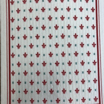 Abbott Fleur de Lis Swedish Dish Cloth