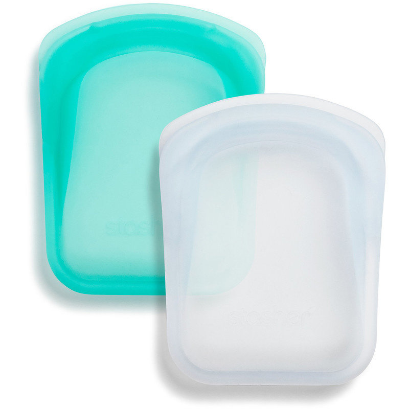 Stasher Stasher Reusable Pocket Bags - Set of 2 Clear/Aqua