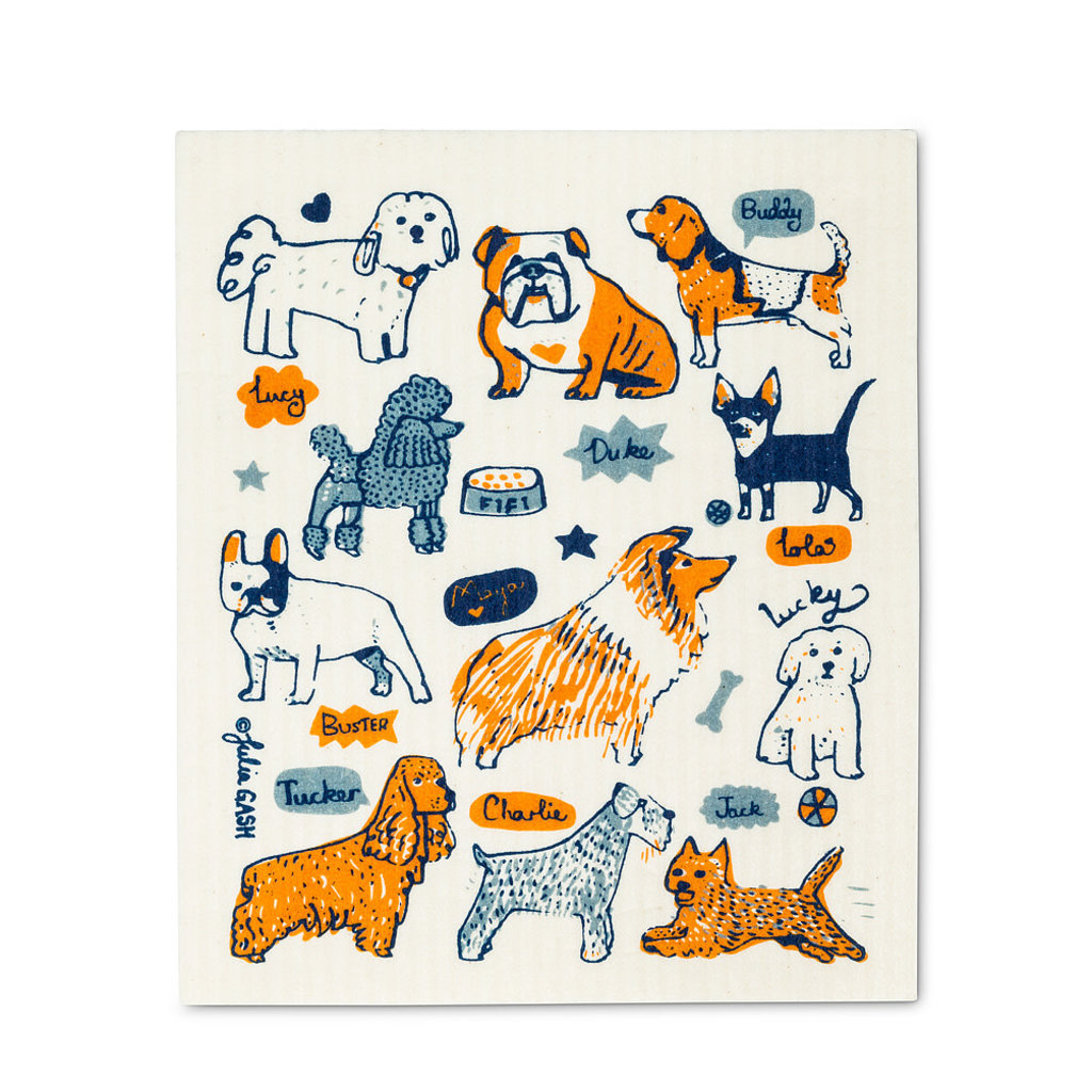 Abbott Dogs with Names Swedish DCloth