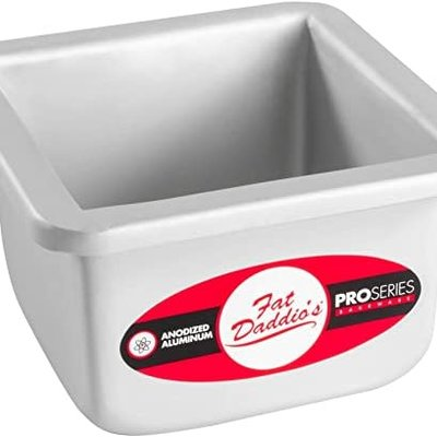 Fat Daddio's Square Cake Pan Solid 4x4x3