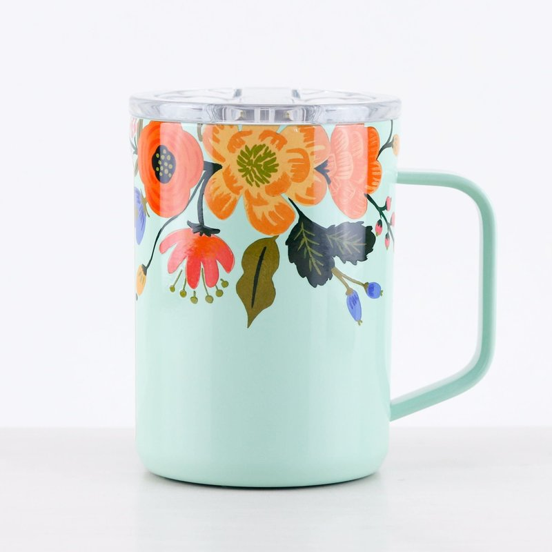 Corkcicle Corkcicle Rifle Mug - 16oz Gloss Mint - Lively Floral 475ml