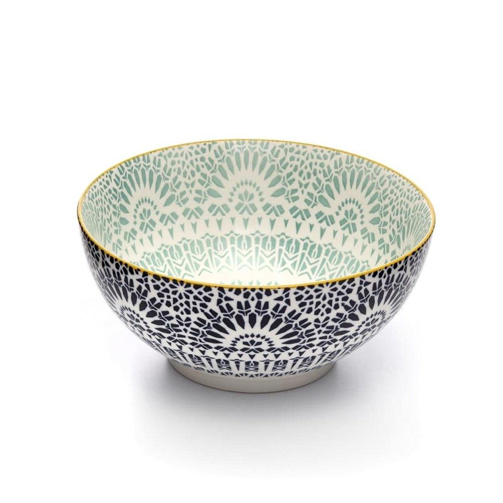 Paisley Bleu Bowl 20 cm