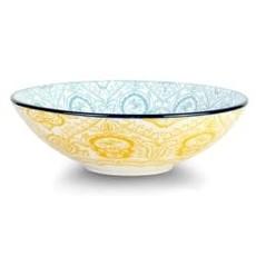 Paisley Soleil Porcelain Pasta Salad Poke Bowl, 21 cm- 25oz
