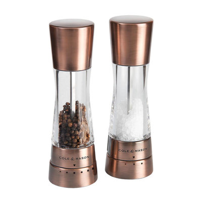 Cole & Mason Derwent Salt & Pepper Mill Gift Set - Copper