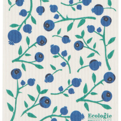 "Danica/Now Designs Swedish Sponge Towel Blueberries  (10"" x 12"")"