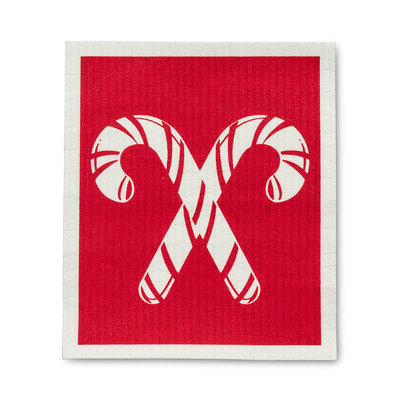 Abbott Candy Canes Red Back  Swedish DCloth