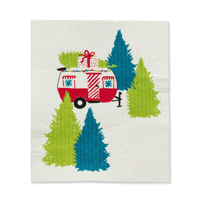 Abbott Holiday Camper with Trees  Swedish DCloth