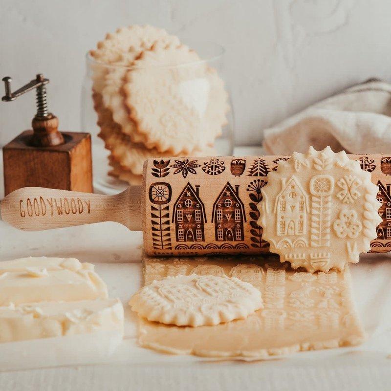 GoodyWoody Embossed Rolling Pin - Scandinavian Life