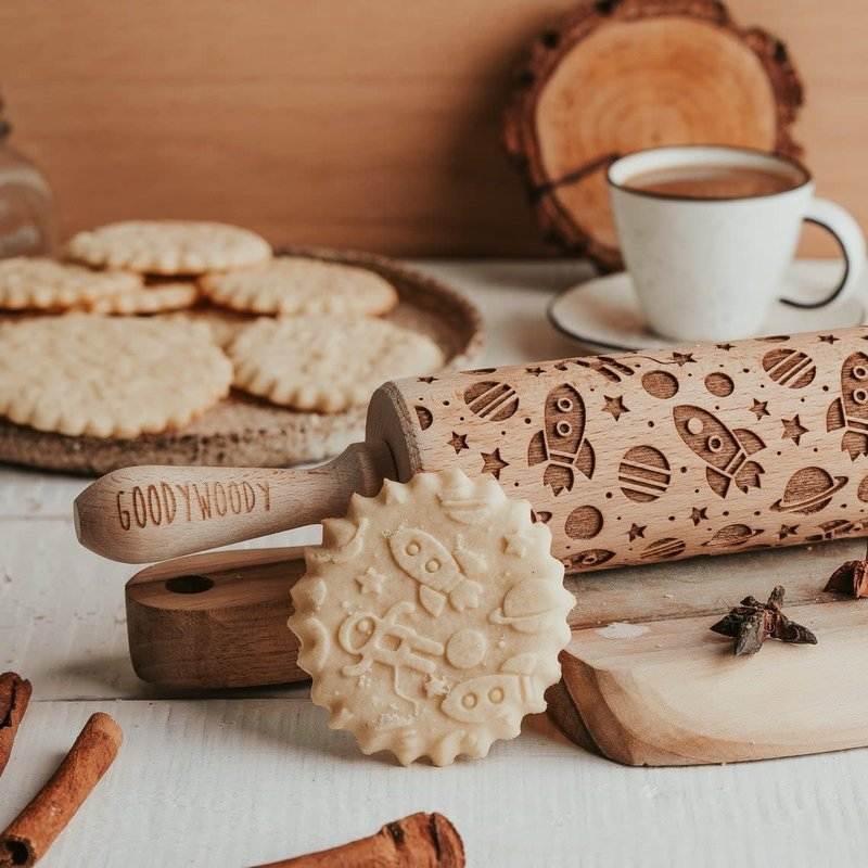 GoodyWoody Embossed Rolling Pin - Cosmos