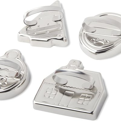 Fox Run Vintage Christmas Cookie Cutter Set/4