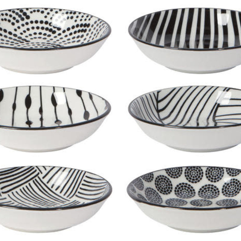 Danica/Now Designs Black Dots Pinch Bowls Set of 6