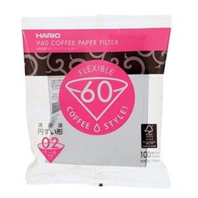 Hario Hario V60-02 Coffee Filter 100 pk