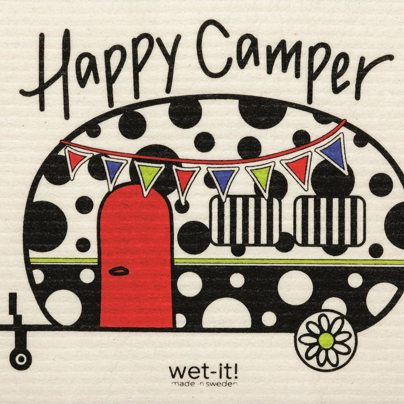 WetIt! Swedish Treasures Swedish Wet Cloth Happy Camper