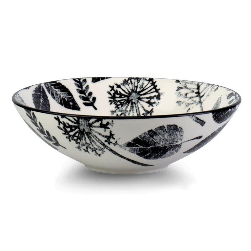Kiku Leaves Porcelain Pasta Salad Poke Bowl, 21 cm- 25oz