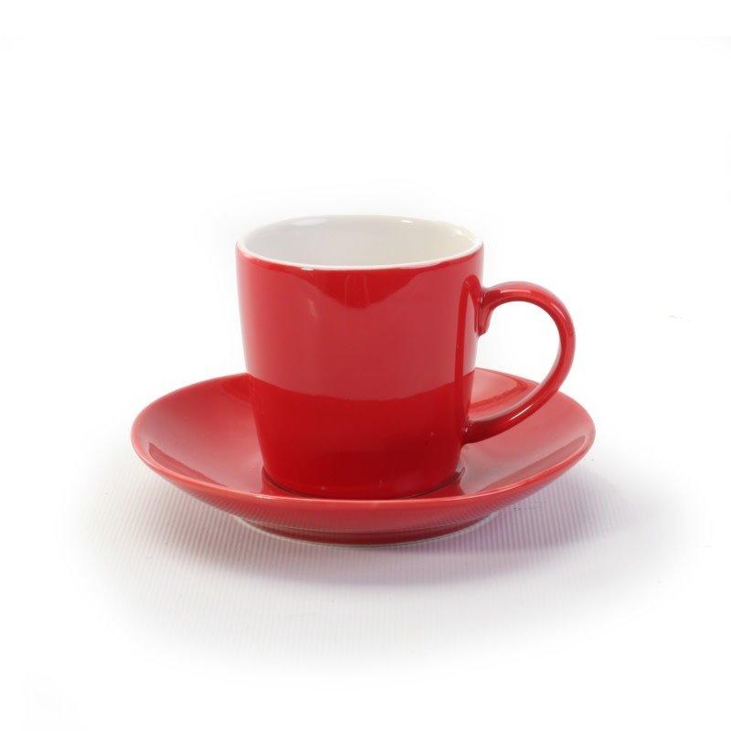 BIA Cordon Bleu Espresso Cup & Saucer - Red