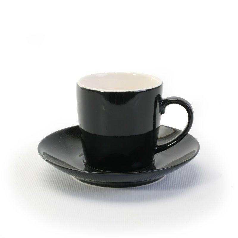 BIA Cordon Bleu Espresso Cup & Saucer - Black