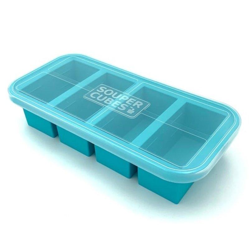 Souper Cubes Souper Cubes Freezing Tray - 1 Cup - Aqua
