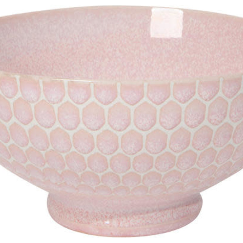 Danica/Now Designs Honeycomb Pink Cereal Bowl 6in