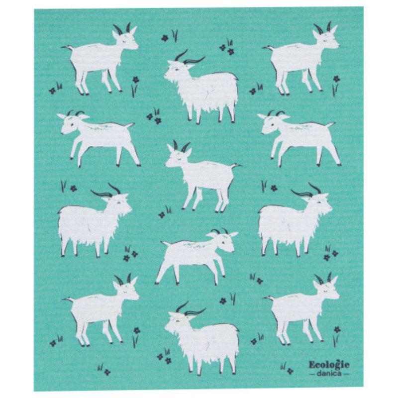 """Danica/Now Designs Swedish Sponge Towel Goats  (10"""" x 12"""")"""