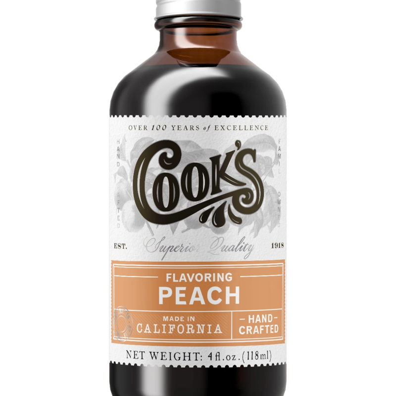 Cook Flavoring Company Natural Peach Flavouring 4oz