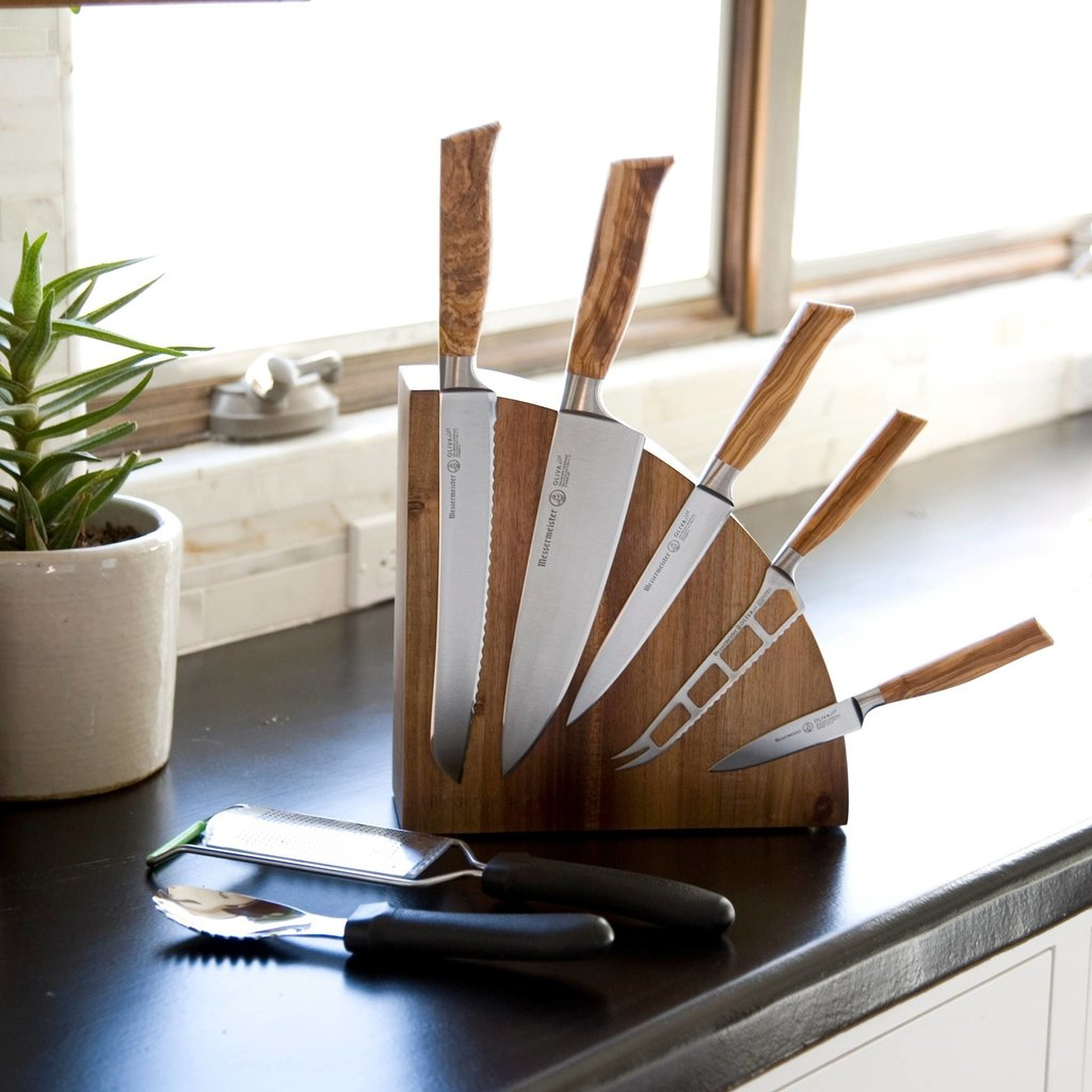 Messermeister Acacia Magnetic Knife Block