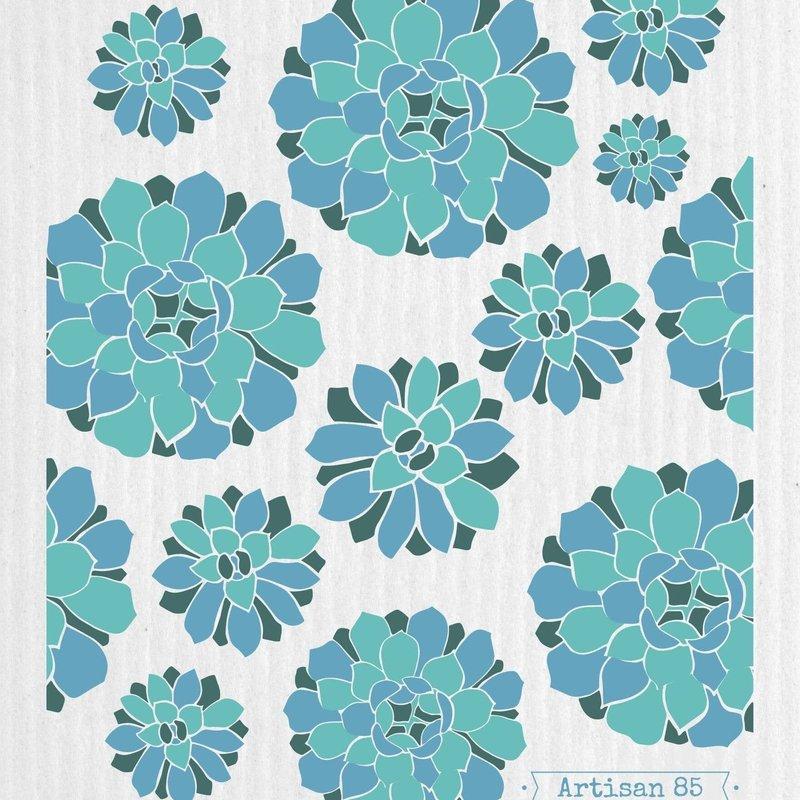 Artisan 85 Succulent Garden Blue Swedish Cloth