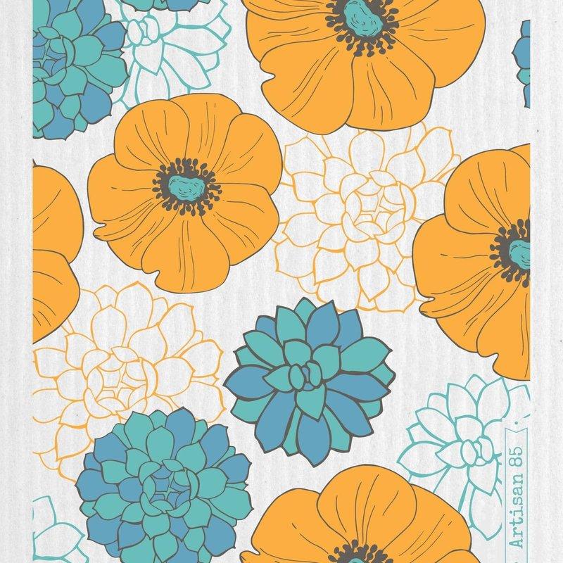 Artisan 85 Flower Garden Saffron Swedish Cloth