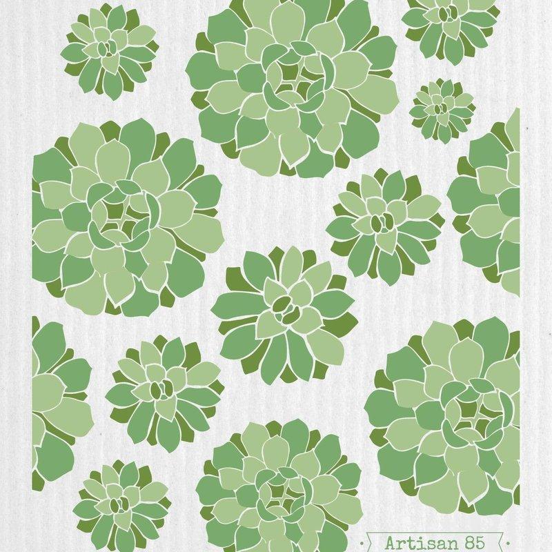 Artisan 85 Succulent Garden Green Swedish Cloth