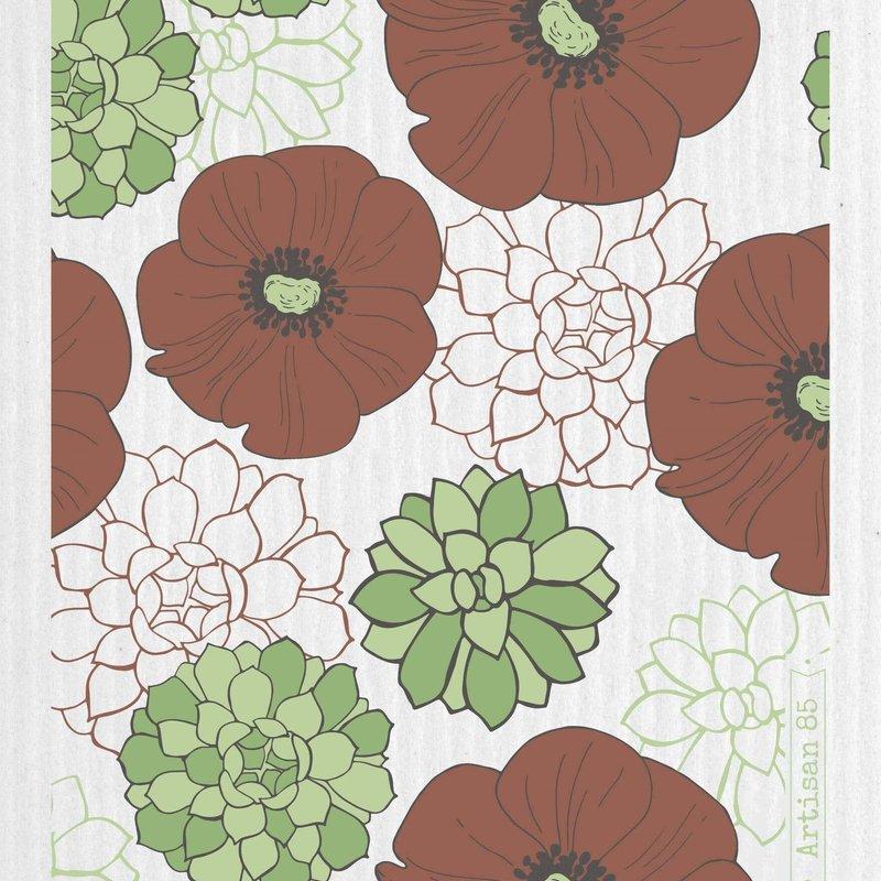Artisan 85 Flower Garden Terra Swedish Cloth