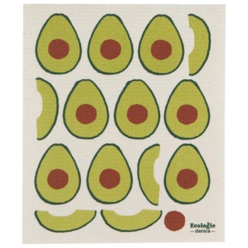 "Danica/Now Designs Swedish Sponge Towel Avocados  (10"" x 12"")"