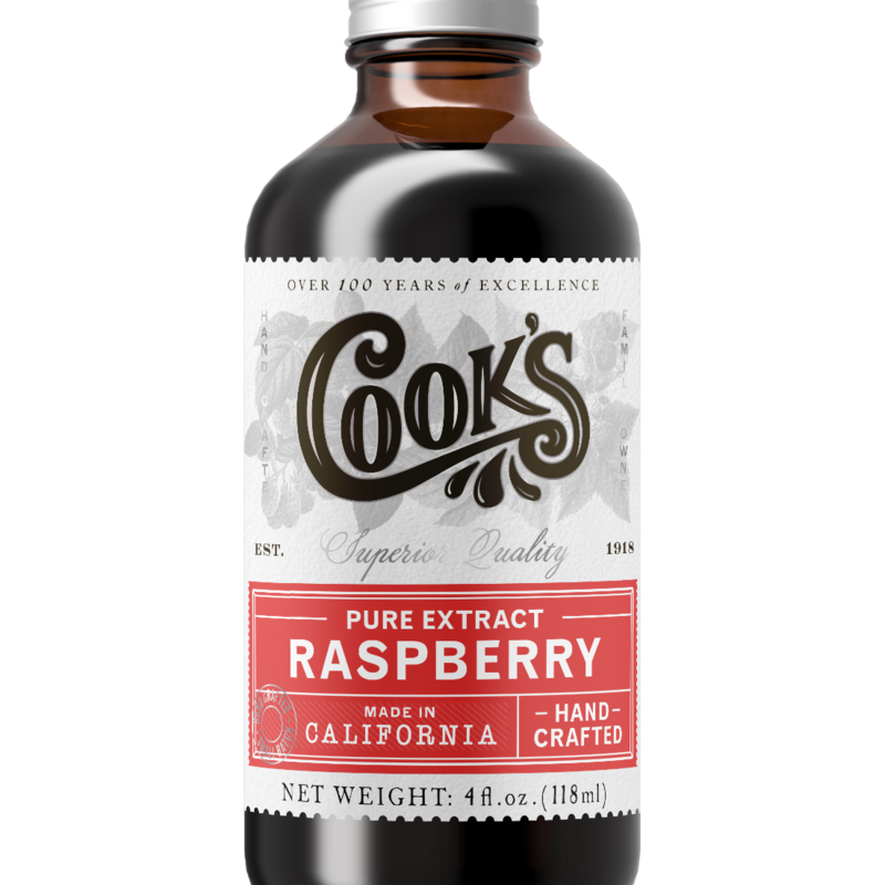 Cook Flavoring Company Pure Raspberry Extract 4oz