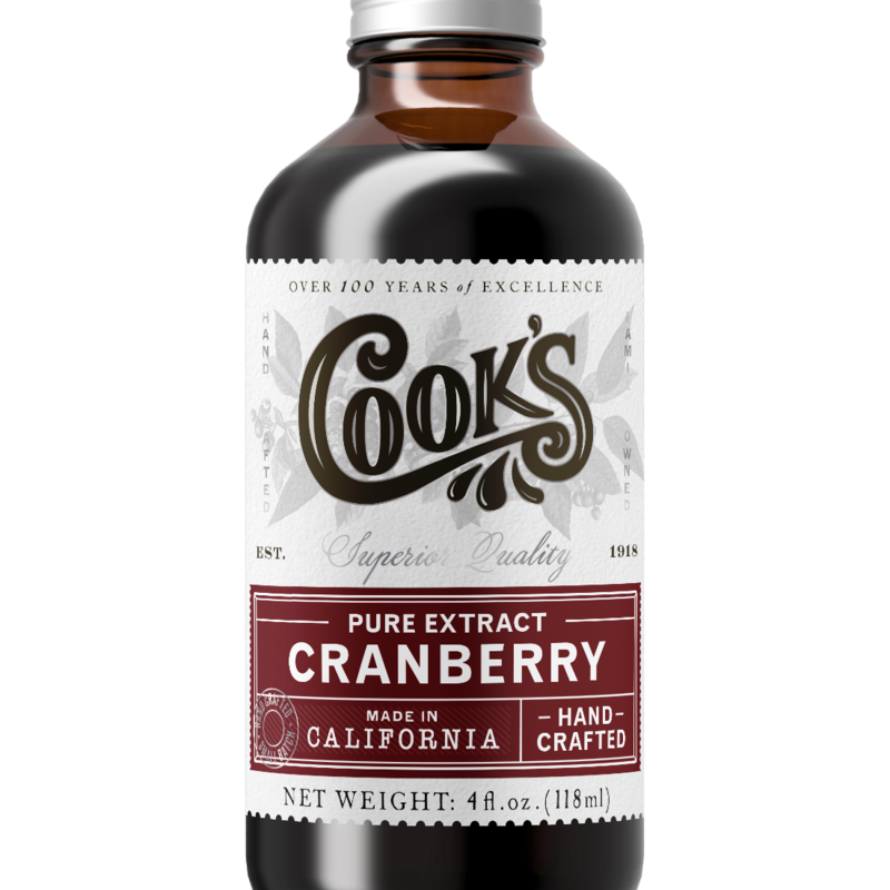 Cook Flavoring Company Pure Cranberry Extract 4oz