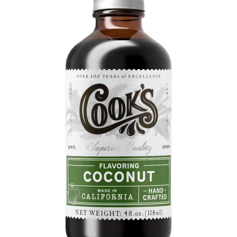Cook Flavoring Company Natural Coconut Flavouring 4oz