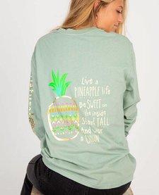 Natural Life Pineapple Comfy Long Sleeve Tee