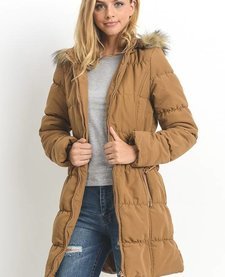 Long Parka with Zipper Hoodie