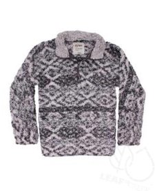 Tribal Frosty Tipped Stadium Pullover