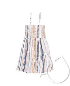 Roxy Summerland Party Shirred Bodice Strappy Dress
