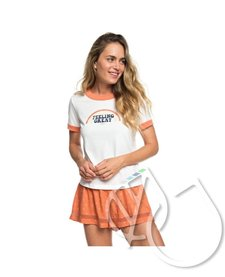 Roxy Sand And Sun Rays B Ringer Tee